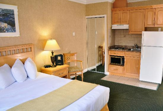 Quality Inn Downtown Inner Harbour : Traditional Queen Bed with Kitchenette