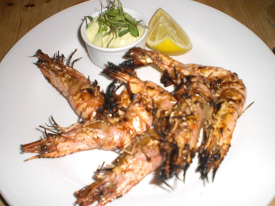 The Greenhouse: Moroccan spiced prawns