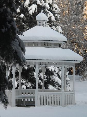 Winter snow on Gazebo - Picture of Wedgewood Resort, Fairbanks ...