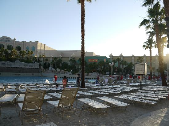 Mandalay Bay Beach: Abendstimmung am Pool
