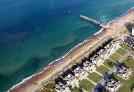 Coastal Helicopters: Jenette's Pier as seen from the air.