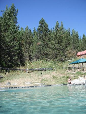 Gold Fork Hot Springs: view north from pool.
