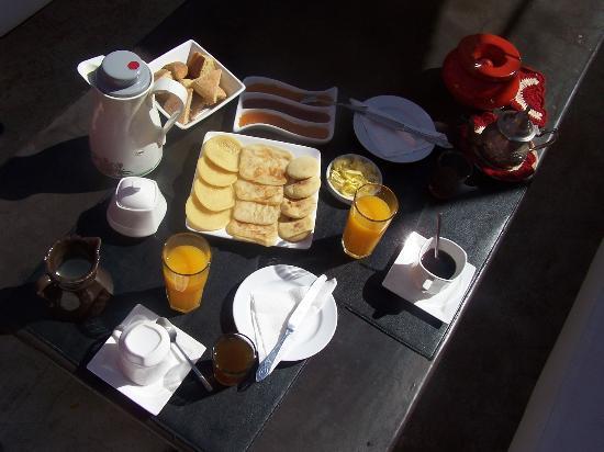 Riad Nejma Lounge: le petit déjeuner