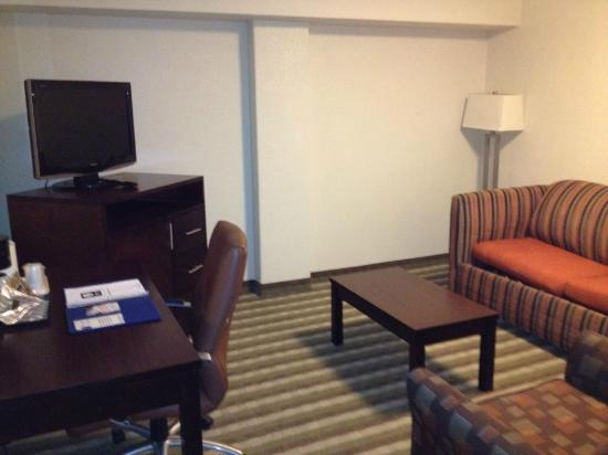 Quality Inn & Suites New York Avenue: Living room with sleeper sofa