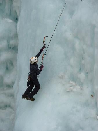 Ouray Ice Park: She was amazing to watch.