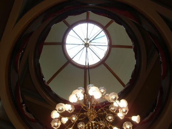 Arizona Capitol Museum: Looking up the rotunda dome