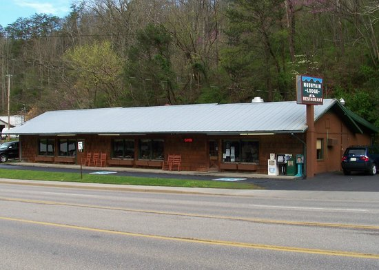 Mountain Lodge Restaurant: Out front