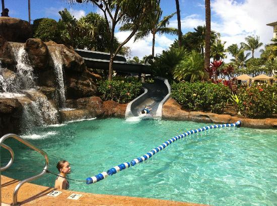 The Westin Ka Anapali Ocean Resort Villas Water Slide Southern Pool Complex