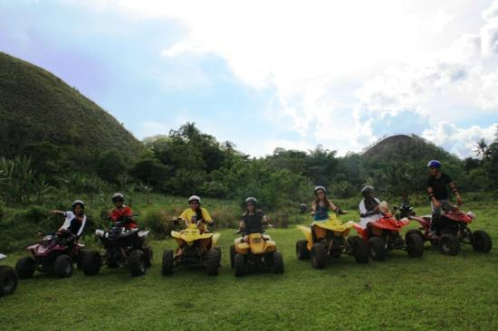 atv by the chocolate hills