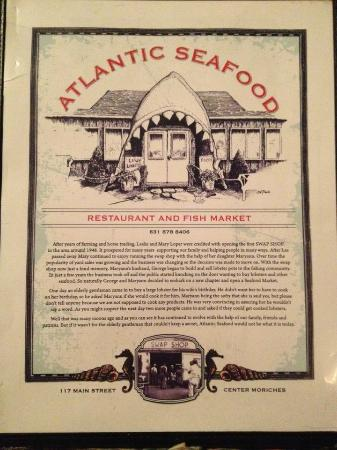 Menu picture of atlantic seafood restaurant and fish for Atlantic fish menu
