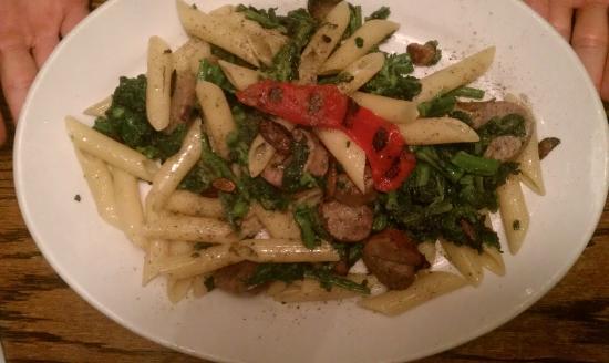 Dover, NJ: sausage with broccoli rabe