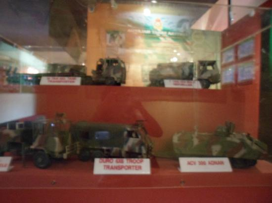 Army Museum: Exhibits inside the museum