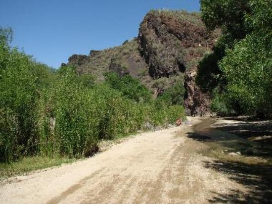 right outside Box Canyon