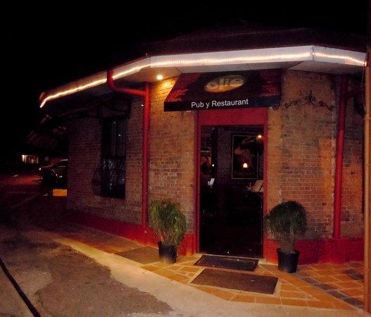 Entrance of Olio Pub & Restaurant.