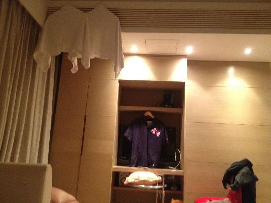The Burlington Hotels Limited: towels and shirt used to block aircon and TV lights.
