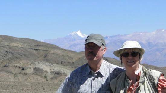 Posada Cavieres Wine Farm: Blick zum Aconcagua