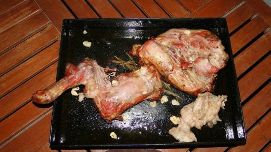 Posada Cavieres Wine Farm: Lecker Fleisch aus dem Backofen