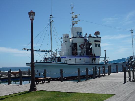 Michi-no-Eki Rakura, Shiokaze Okoku: 敷地内に船