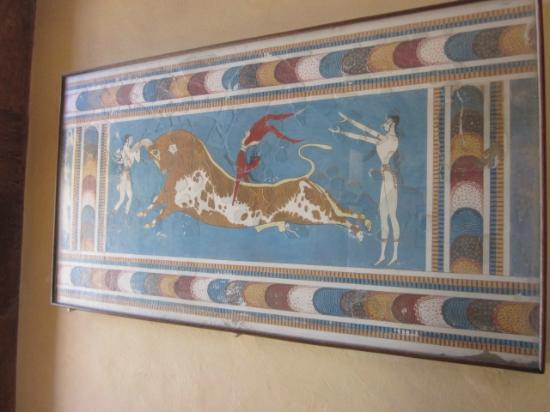 Knossos Archaeological Site: bull-leaping fresco