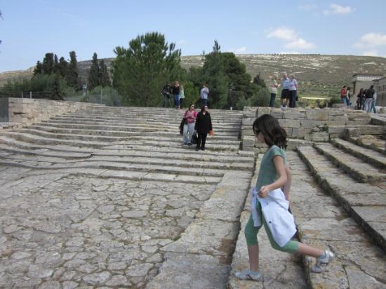 Knossos Archaeological Site: Official explanation = theatrical area; my interpretation = reception area