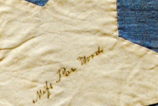Tennessee State Museum : ogni stella è stata cucita e firmata dalle mogli dei comandanti.foto cecilia polidori