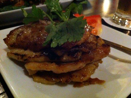 The Blue Ginger Restaurant: satay Babi - grilled pork