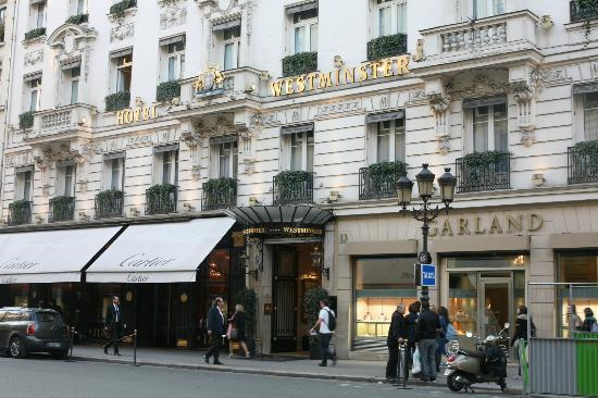in front of hotel - Picture of Hotel Westminster, Paris - TripAdvisor