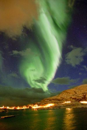 Sommaroy Arctic Hotel Tromso: Northern Lights from Sommaroy Arctic Hotel