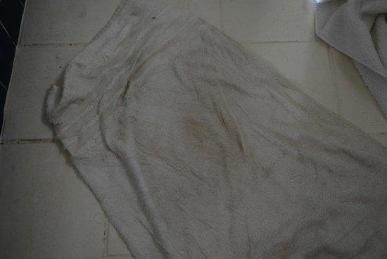 Pousada Mandala: le tapis de bain lorsque nous sommes arrivés