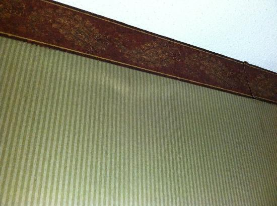Louisville Airport/Expo Hotel: Bulge in wall paper
