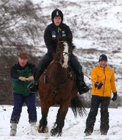 Newtonmore Riding Centre: Ski Jorring for the BBC