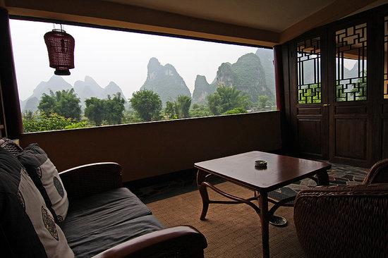 Room balcony, Yangshuo Mountain Retreat