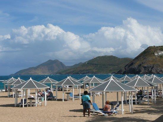 Marriott's St. Kitts Beach Club : view from beach at Mariott