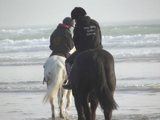 Pony Tales Stables: Livery Clients riding on Inch Beach