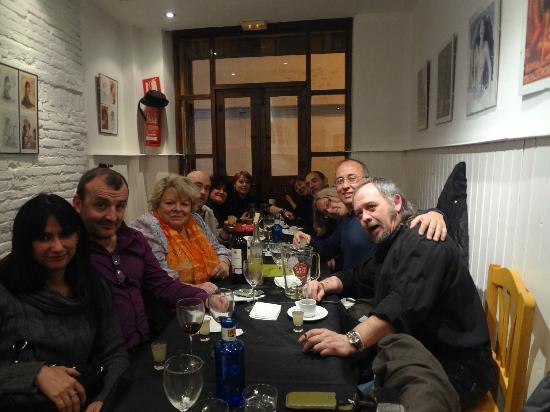 Refugio- Restaurante del Carmen: Con el grupo de amigos