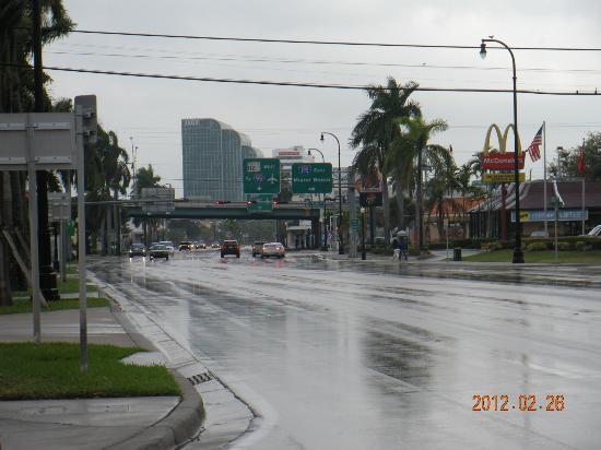 Midtown Inn Miami: CALLE EN FRENTE DEL HOTEL