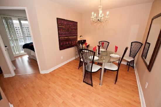 Canada Suites Toronto Furnished Rentals: 2 Bedroom 2 Bath Presidential Suite - The Dining Room