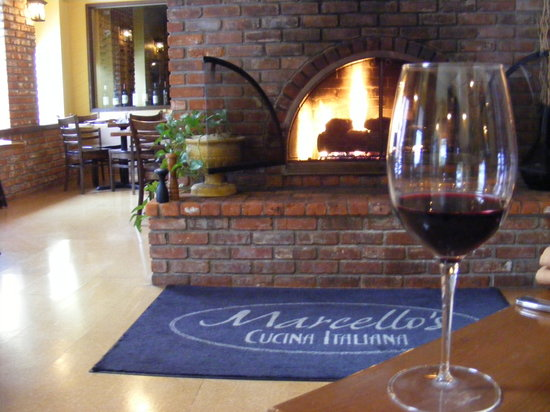 Marcello's Cucina Italiana: The fireplace in our main dining area