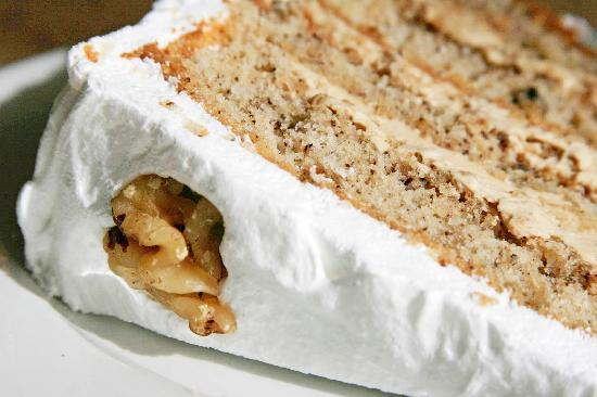 The Honey Pot: Frosted Coffee and Walnut Cake