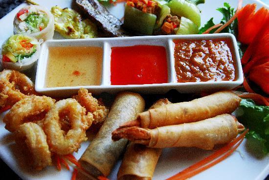 Bangkok Garden Restaurant: Appetizer Platter