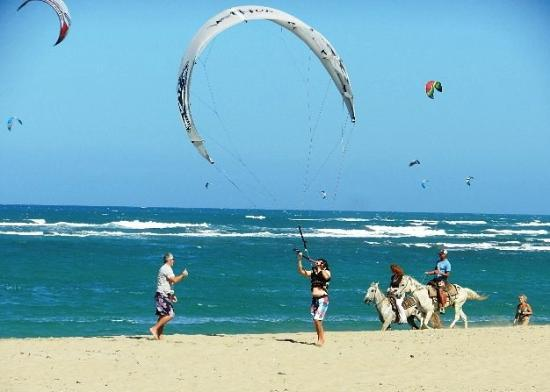 Agualina Kite Resort: Kite Beach, directly in front of hotel