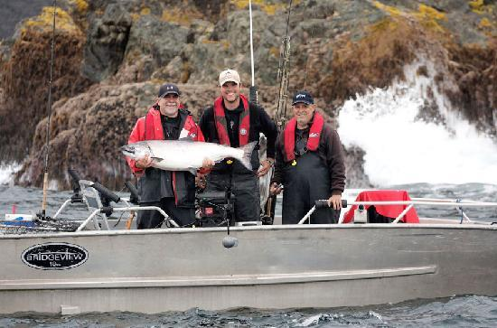 The Lodge at Englefield Bay (Westcoast Resorts): Enormous tyee salmon!