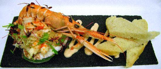 The Sun Bay Hotel Restaurant: Shell Fish Cocktail - Fresh Hand Picked Crab, Cray Fish and Prawns