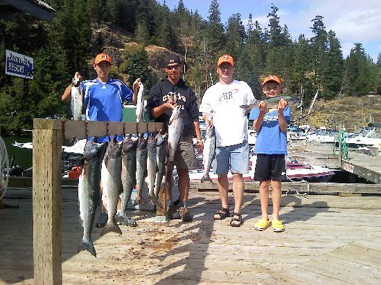 Nanaimo, Canada: I guess they were biting!!