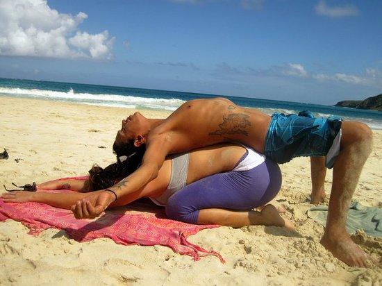 Culebra Yoga: Partner Yoga on the beach