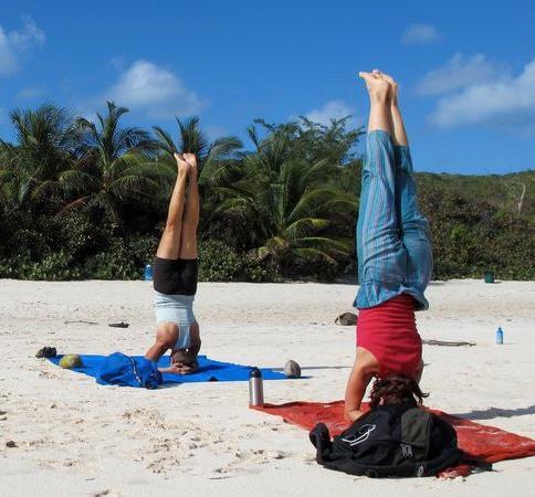 Culebra Yoga: Headstands on Flamenco Beach