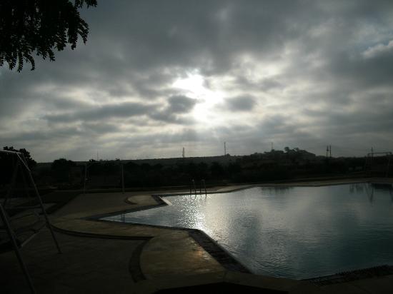 Himmatgarh Palace: sunrise from hotel