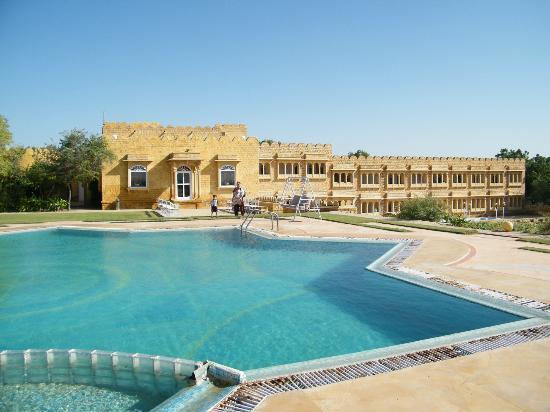 Himmatgarh Palace: the hotel premises