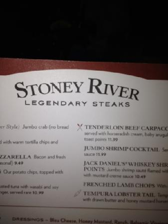 Stoney River Restaurant Menu Prices
