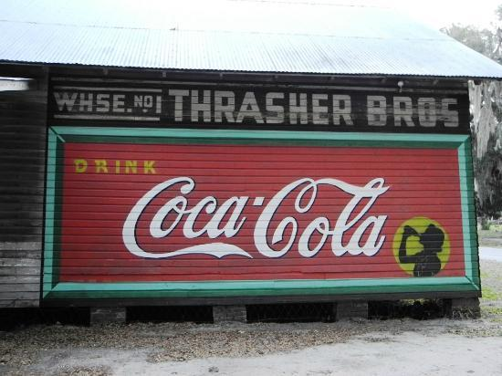 Micanopy Historical Society Museum: The Coca Cola wall